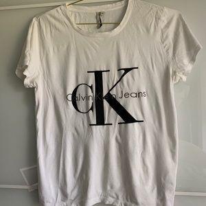 Calvin Klein Ck Logo White Tee